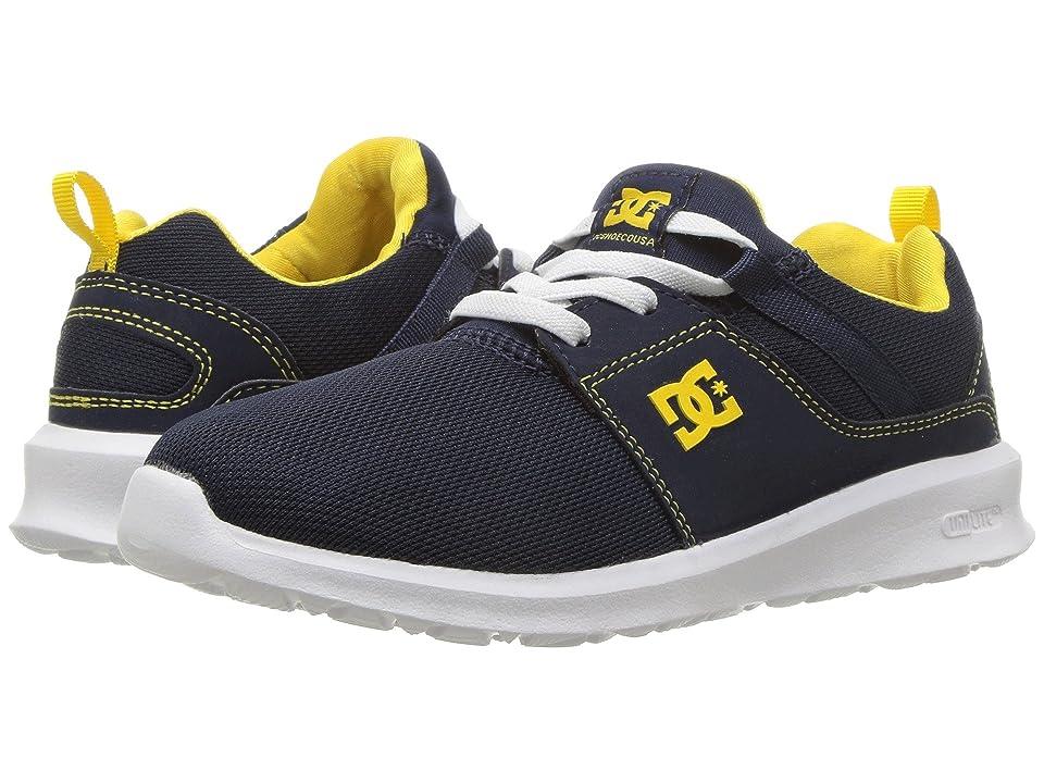 DC Kids Heathrow (Little Kid/Big Kid) (Navy/Yellow) Boys Shoes