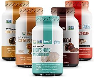 Mushroom Bundle Pack - The Ultimate Mushroom Bundle Containing Cordyceps, Reishi, Lions Mane, Turkey Tail and Chaga - Noot...