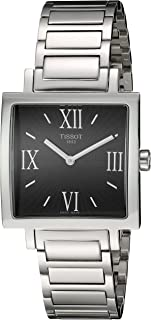 Tissot Happy Chic Women'S Black Dial Stainless Steel Band Watch - T034.309.11.053.00