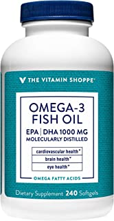Omega 3 Fish Oil 1000MG, EPA 300mg DHA 200mg, Purity Assured, Molecularly Distilled to Support Cardiovascular, Joint and B...