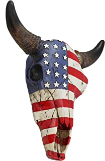 american flag cow skull