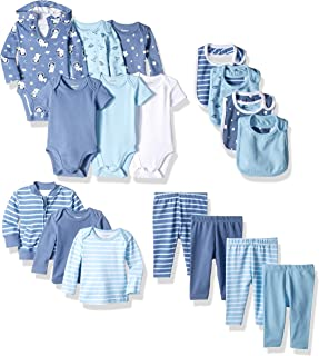 Hanes Ultimate Baby Baby-Boys BFCOOL Flexy - 17 Piece Cool Weather Essentials Set Layette Set - Multi