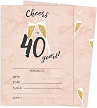 happy 40th birthday invitations
