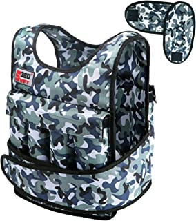 Swift360 Weighted Vest for Men 20/40lbs Adjustable Female Fitness Gear Cross-fit Training Exercise Camouflage/Black
