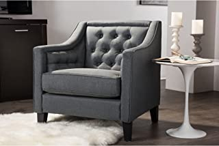 button tufted armchair