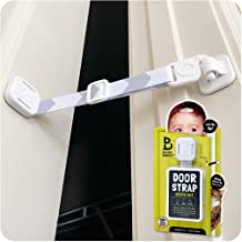 Door Buddy Baby Proof Door Lock with Adjustable Strap (Grey). No Need for Baby Gate. Child Proof Room with Litter Box Whil...