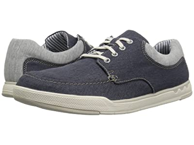Clarks Step Isle Lace (Navy Canvas) Men