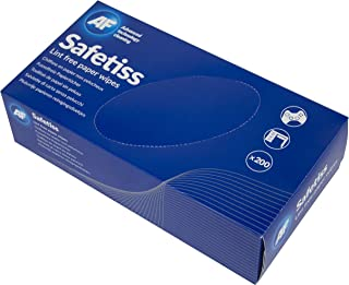 AF STI200 Safetiss Wipes Cleaning Paper Absorbent Single-ply Lint-free Ref  [Pack of 200]