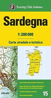 Cartina Stradale Sardegna Nord Ovest.Amazon It Cartina Della Sardegna