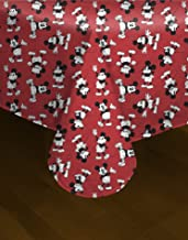 Best Brands Disney Mickey and Minnie Mouse Tablecloth – PEVA with Flannel Backing Washable Table Cover – for Parties, Barb...