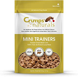 Crumps' Naturals Mt-Fd-105 Mini Trainers Freeze Dried Beef Liver (1 Pack), 105G/3.7 Oz