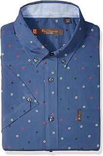 Ben Sherman Men's Ss Scttrd Trgt PRNT Shirt