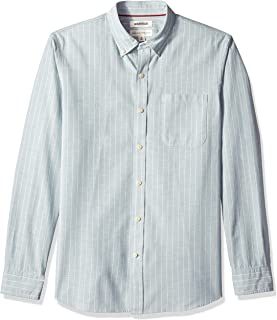 Amazon Brand - Goodthreads Men's Standard-Fit Long-Sleeve Pinstripe Chambray Shirt