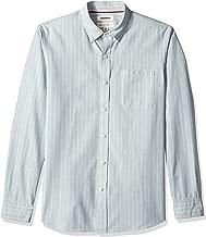 Amazon Brand - Goodthreads Men's Standard-Fit Long-Sleeve Pinstripe Chambray Shirt