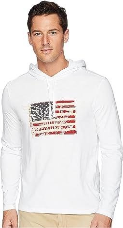 Slub Jersey American Pullover Hood T-Shirt