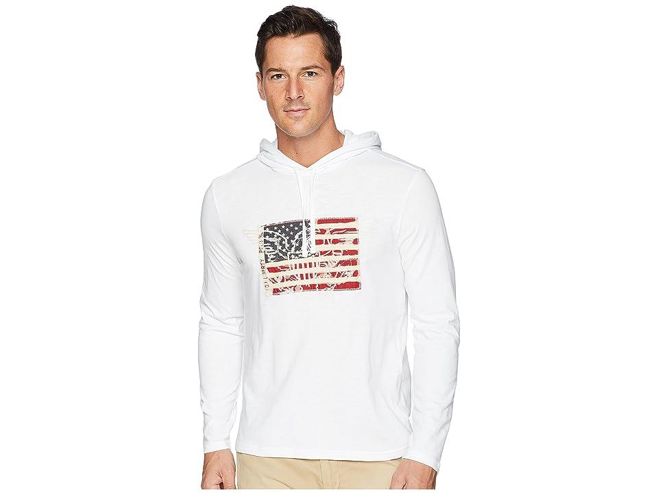 Polo Ralph Lauren Slub Jersey American Pullover Hood T-Shirt (White) Men