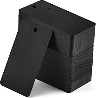 Coopay 200 Pieces Earring Display Card Earring Card Holder Blank Kraft Paper Tags for DIY Ear Studs and Earrings,3.5 x 2 Inches (Black)