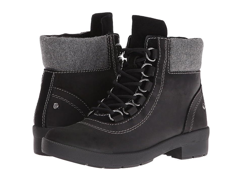 Hush Puppies Dorris Fairley (Black WP Leather) Women