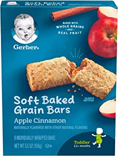 Gerber Graduates Cereal Bars, Apple Cinnamon, 8 Count