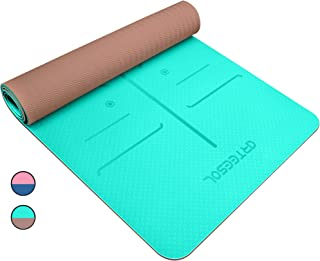 arteesol Yoga Mat, Non Slip All-Purpose Exercise Mat Eco-Friendly High Density TPE Workout Mat with Carring Strap for Yoga, Pilates and Floor Exercises(72x24x0.24 Inch)