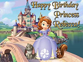 Cassie's Kitchen Sofia the First 1/4 Sheet Edible Photo Birthday Cake Topper~ Personalized!