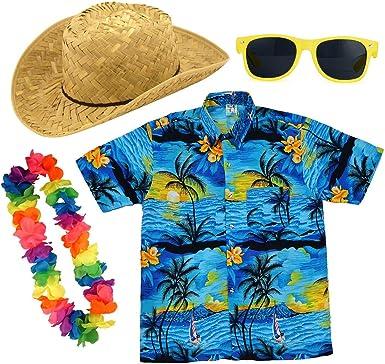 Paraguas de papel para adultos hawaiano camisa verano ...