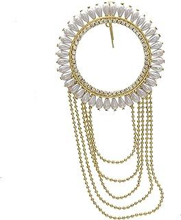 Geode Delight Elegant Gold Plated Pearl Bun Pins for Girls & Women
