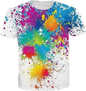 fdb65d0598f7c2 uideazone Herren T-Shirts 3D Muster Kurzen Ärmels Kurzarm Shirt Sport  Fitness T-Shirt
