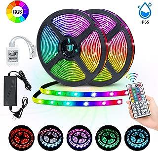 LED Strip Lights, room light, MingoPro 32.8FT/10M 300 LEDs SMD5050 RGB Strip Lights, IP65 Waterproof Flexible Strip Lighting for Home Kitchen,tv, desk table, dining room, bed room
