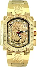 Aqua Master Men's Jesus Dial Special Gold-PVD Stainless Steel Watch, Set With 16 Diamonds W#323J