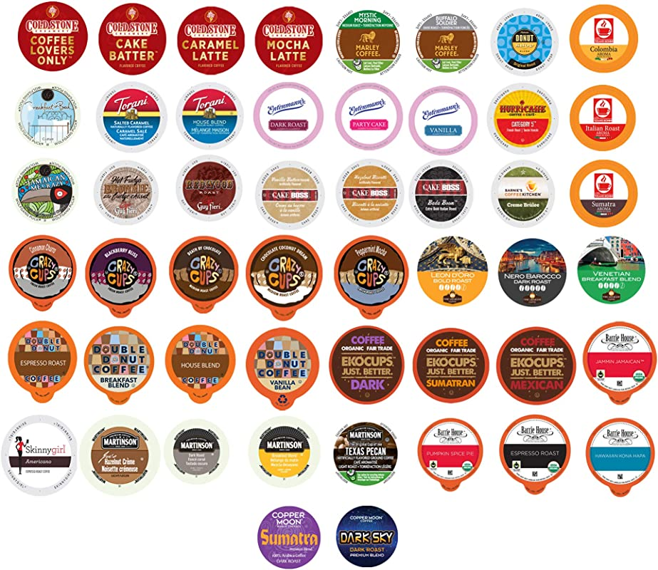 Coffee Single Serve Cups For Keurig K Cup Brewers Variety Pack Sampler Premium Coffee 50 Count
