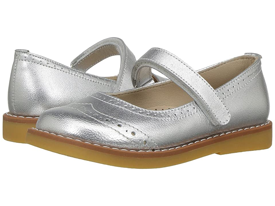 Elephantito Martina Flats (Toddler/Little Kid/Big Kid) (Silver) Girls Shoes