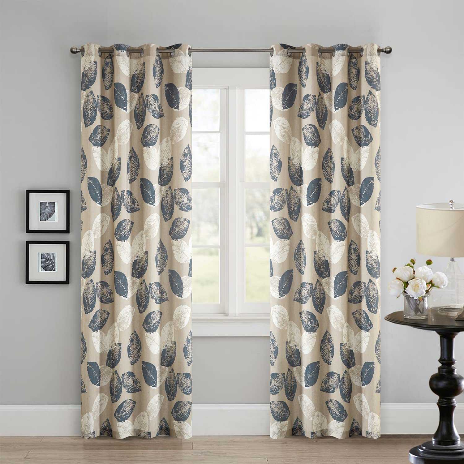 Hofamplly Mail order cheap Yellow Our shop OFFers the best service Blackout Curtains 102 Leaf Length Inch Pattern