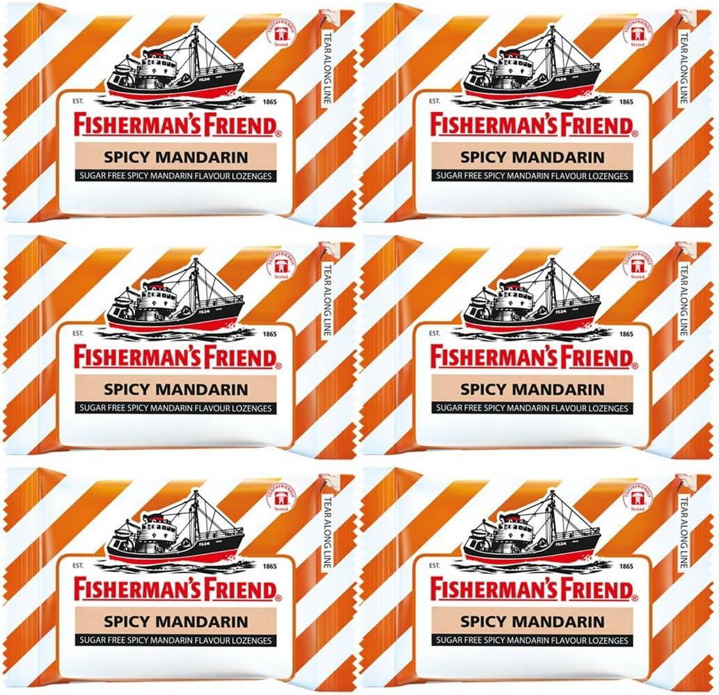 Cheap SALE Start Fisherman's Price reduction Friend Spicy Mandarin Lozenges 6 Pack of 25g