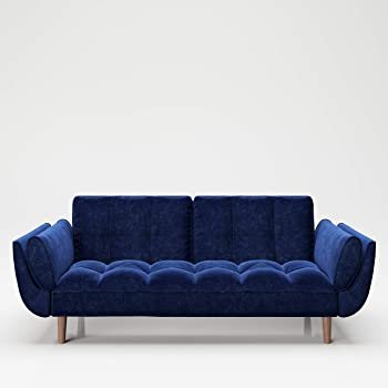 Playboy Sofa Mit Bettfunktion Samtstoff In Blau Stabile Massivholzfusse Bettsofa Mit Verstellbarer Ruckenlehne 2er Sofa 3er Sofa Sofabett 2 Sitzer 3 Sitzer Retro Design Club Stil Amazon De Kuche Haushalt