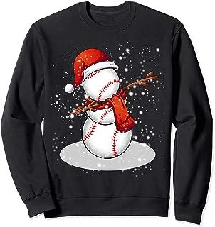 Funny Baseball Snowman Dabbing gift for Baseball lover Sweatshirt