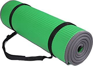 """BalanceFrom All-Purpose Extra Thick High Density Anti-Slip Exercise Pilates Yoga Mat with Carrying Strap,(72""""L x 24""""W x 2..."""