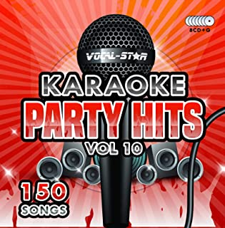 Karaoke Party Hits Vol 10 CDG CD+G Disc Set - 150 Songs on 8 Discs Including The Best Ever Karaoke Tracks Of All Time (The Greatest Showman ,Ariana Grande, Lady Gaga, Sam Smith, Oasis & much more