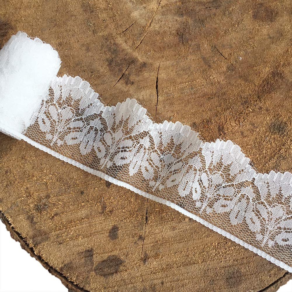 Olive 2021 model Lace 2 inch Popular product Wide White Ribbon Trim Patter lace with Floral