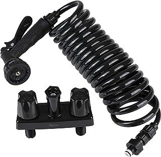 Dura Faucet DF-SA186-BK RV Exterior Quick Connect Spray Faucet with Multi Spray Nozzle (Black)