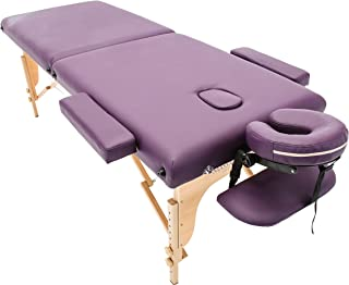 Massage Imperial Purple Charbury 2-Section Portable Massage Table Bed Couch Spa