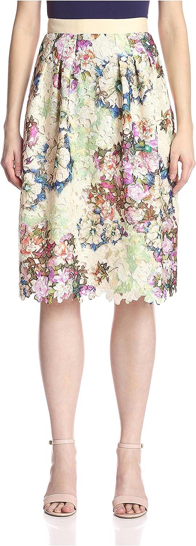 Bigio Women's Printed Lace Skirt