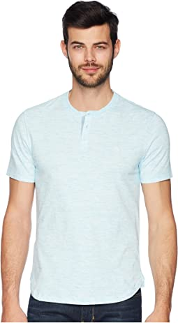Short Sleeve Space Dye Henley