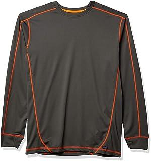 Smith's Workwear Men's Performance Poly Crewneck Shirt W/Contrast Stitching