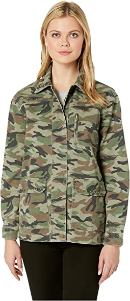 Claudia Studded Camo Jacket