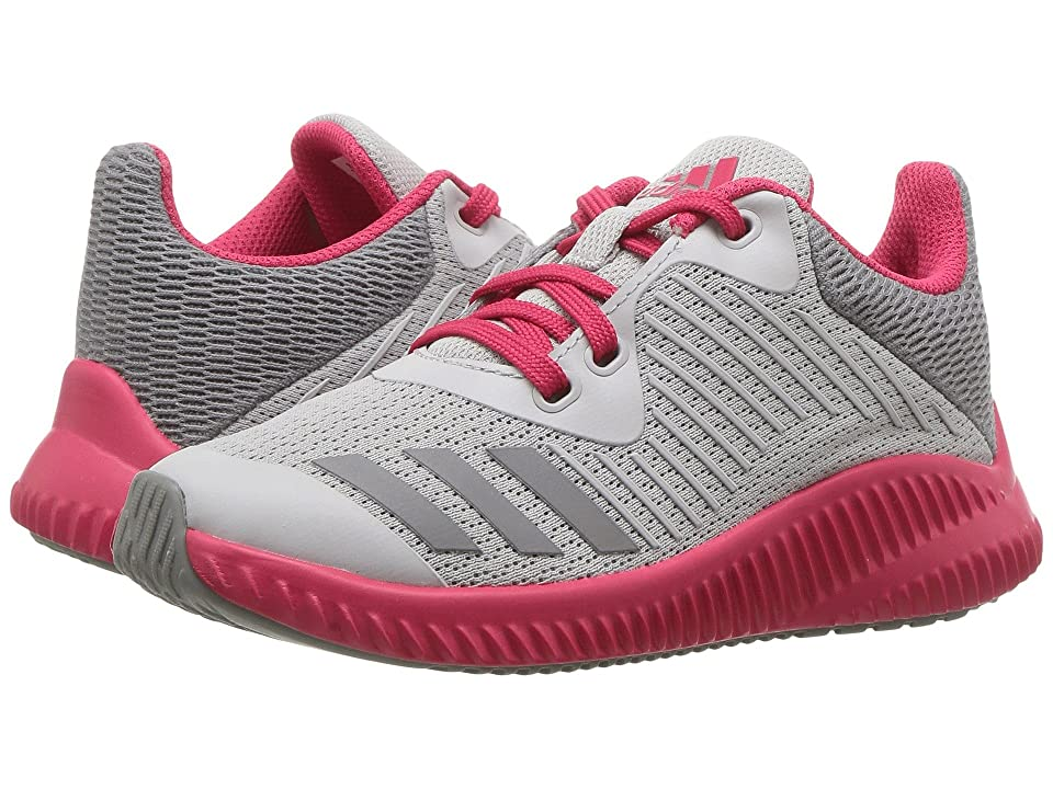 adidas Kids FortaRun K (Little Kid/Big Kid) (Grey Two/Grey Three/Energy Pink) Girls Shoes