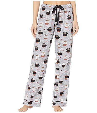 P.J. Salvage Flannel Coffee Pants (Heather Grey) Women