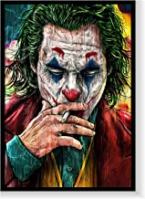 Joker movie art wall painting with frame, Print Canvas Poster Decorative Painting Living Room Abstract Home Decoration 33 ...