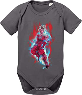 Sambosa Goku Red Fire Baby Dragon Son Ball Strampler Bio Baumwolle Body Jungen & Mädchen 0-12 Monate