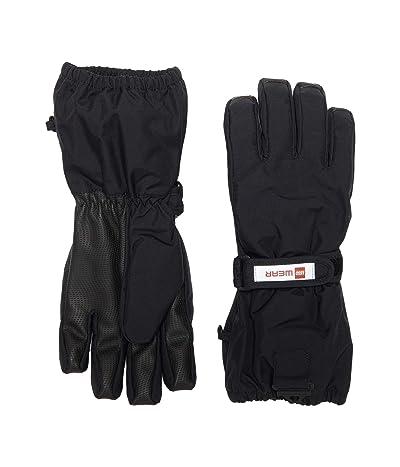 LEGO Kids Snow Gloves with Anti-Slip Grip Membrane (Little Kids/Big Kids) (Black) Over-Mits Gloves